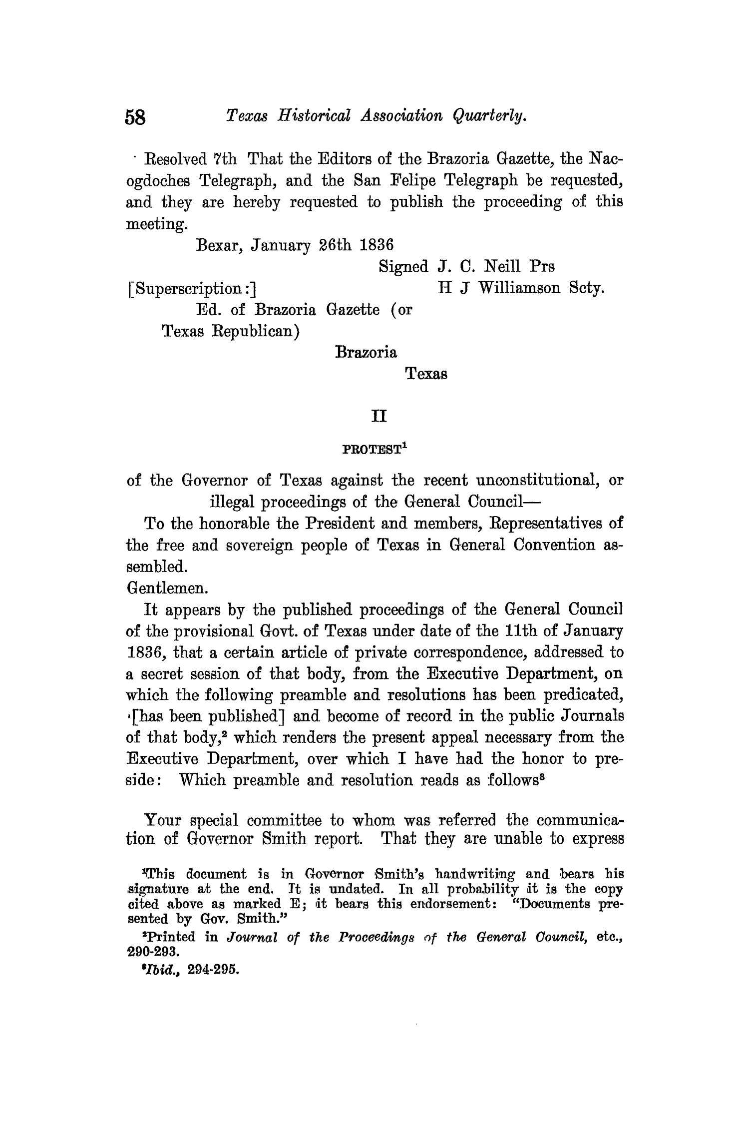 The Quarterly of the Texas State Historical Association, Volume 14, July 1910 - April, 1911                                                                                                      58