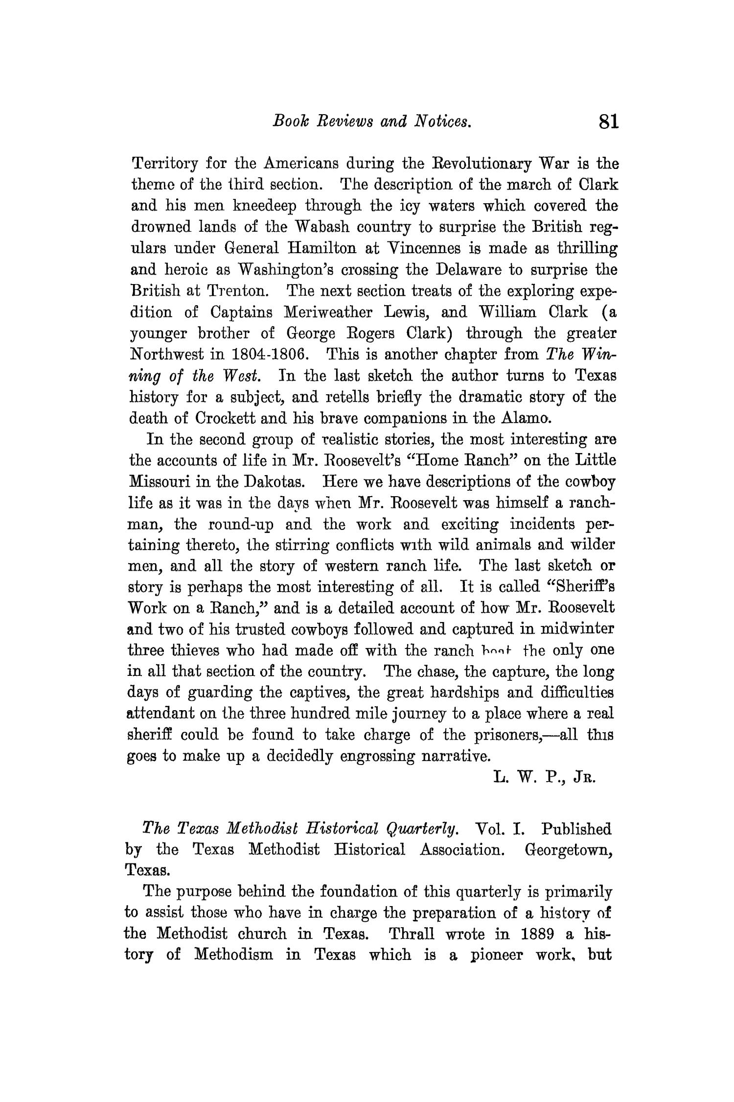The Quarterly of the Texas State Historical Association, Volume 14, July 1910 - April, 1911                                                                                                      81
