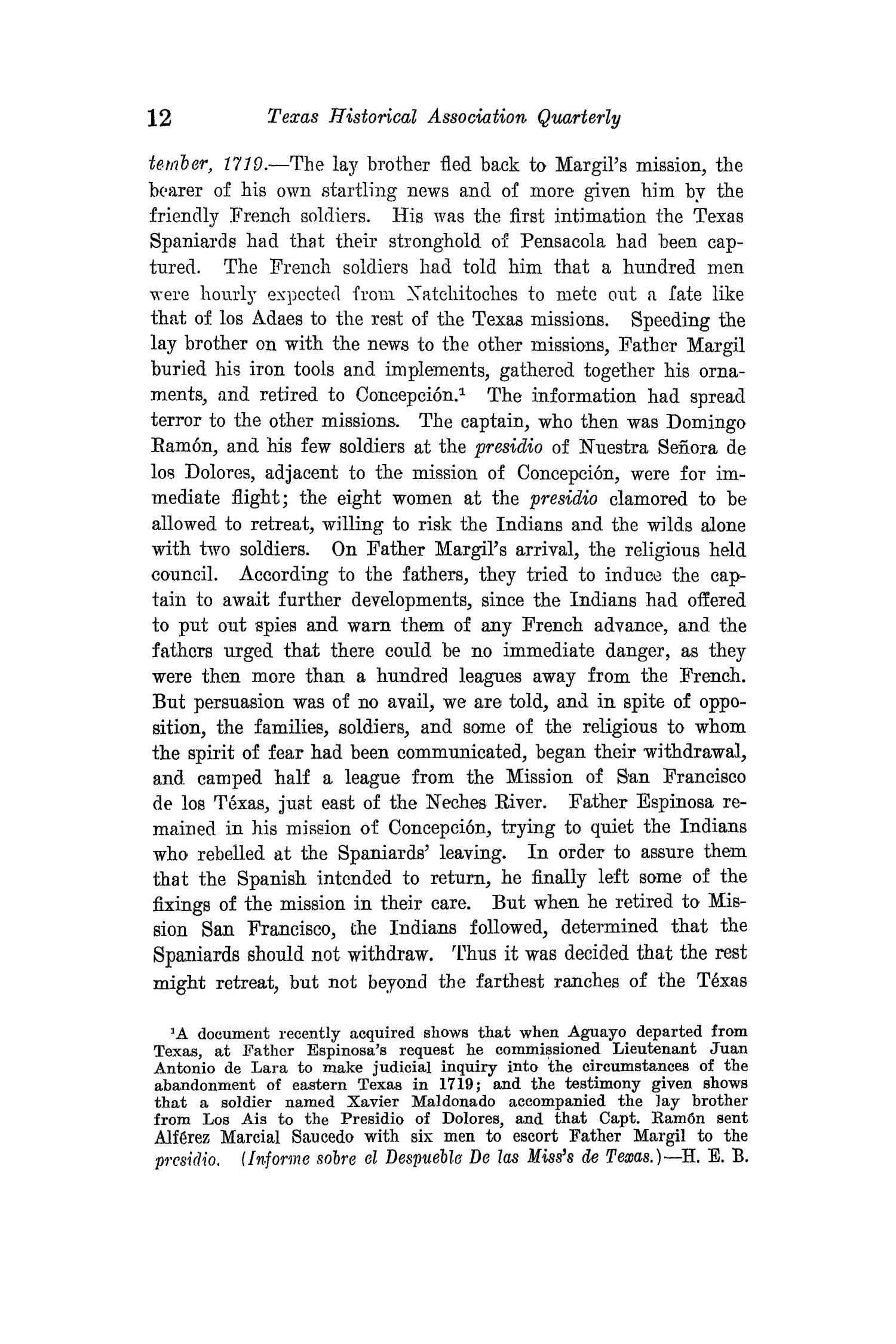 The Quarterly of the Texas State Historical Association, Volume 15, July 1911 - April, 1912                                                                                                      12