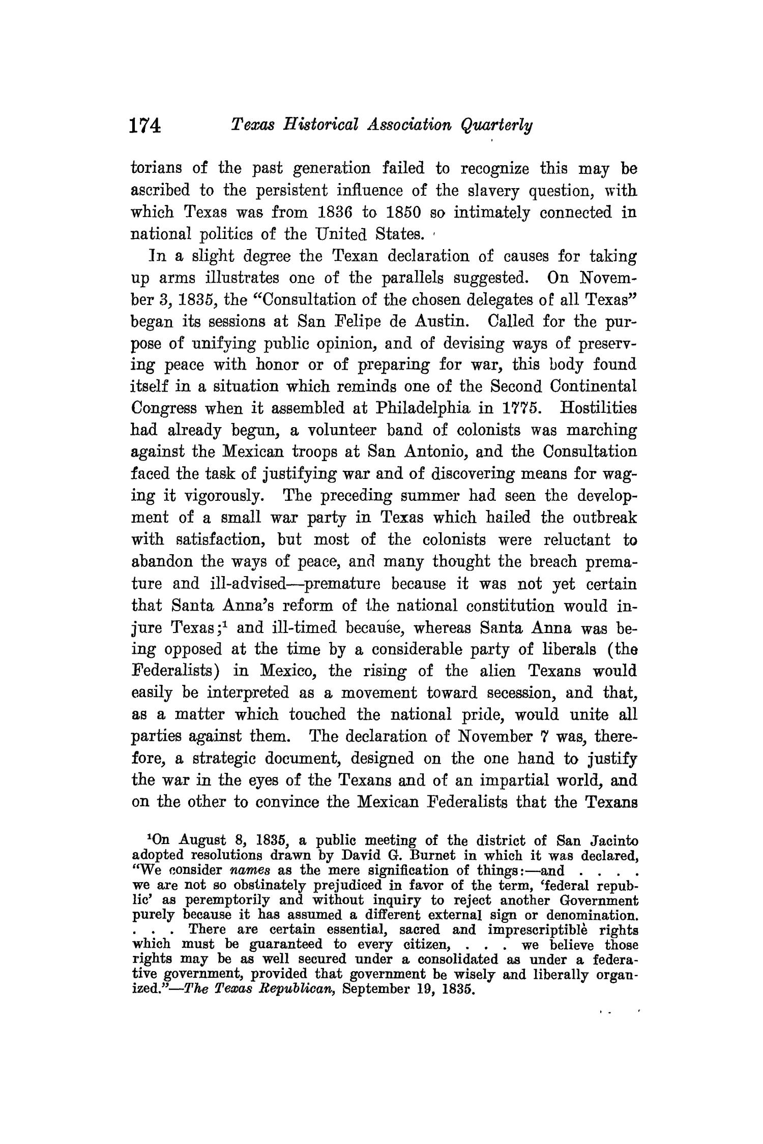 The Quarterly of the Texas State Historical Association, Volume 15, July 1911 - April, 1912                                                                                                      174