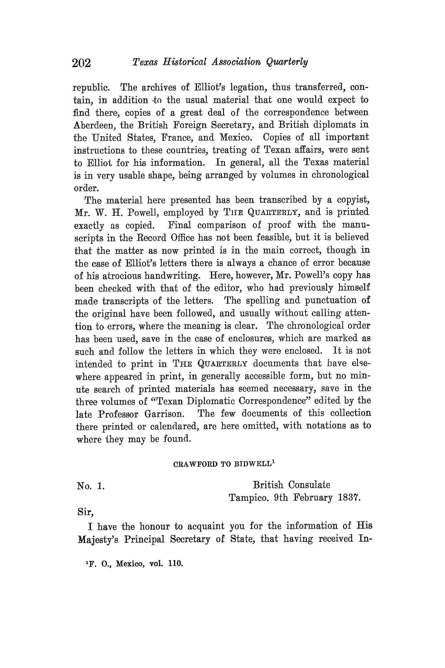 The Quarterly of the Texas State Historical Association, Volume 15, July 1911 - April, 1912                                                                                                      202