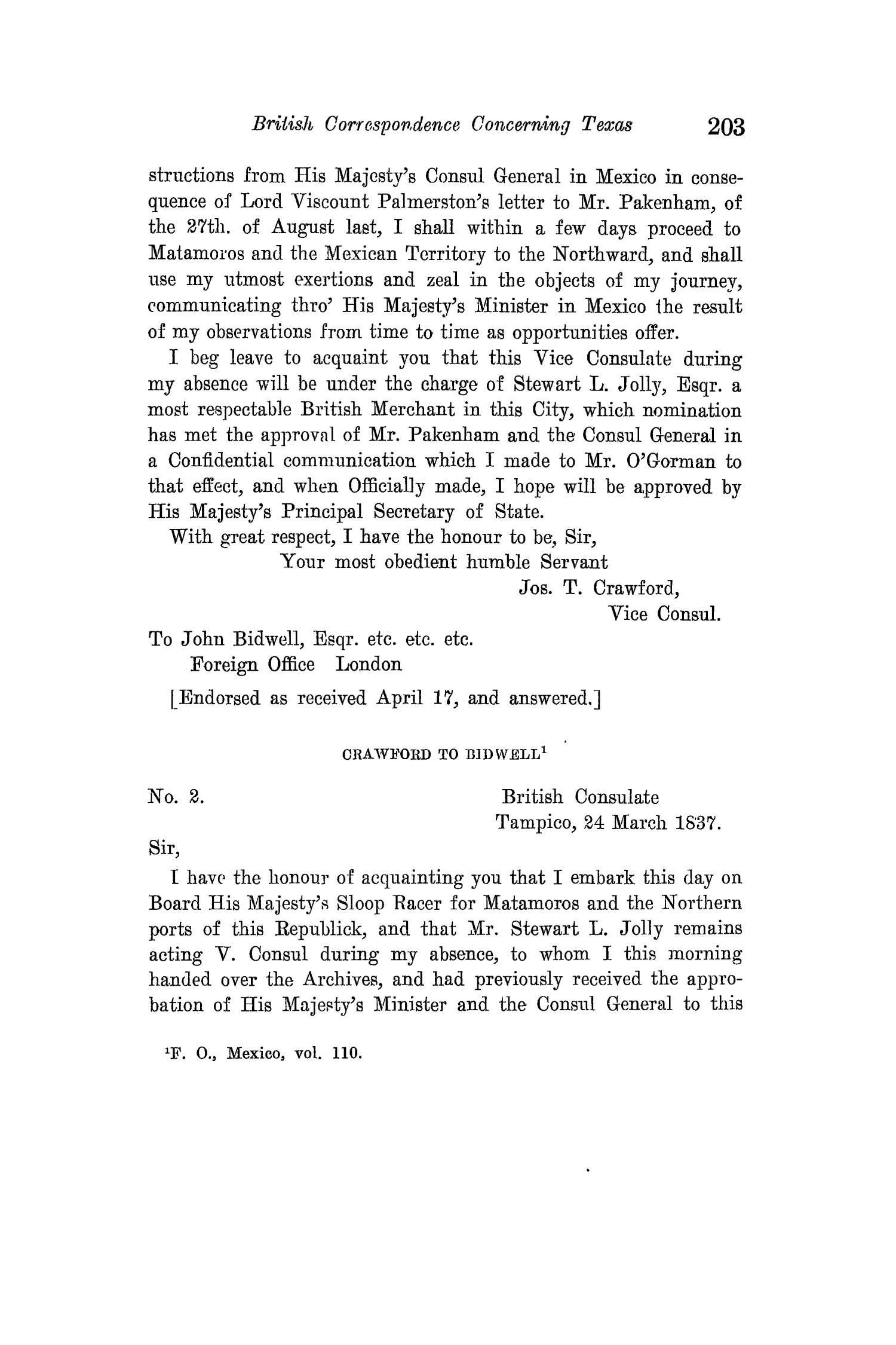 The Quarterly of the Texas State Historical Association, Volume 15, July 1911 - April, 1912                                                                                                      203