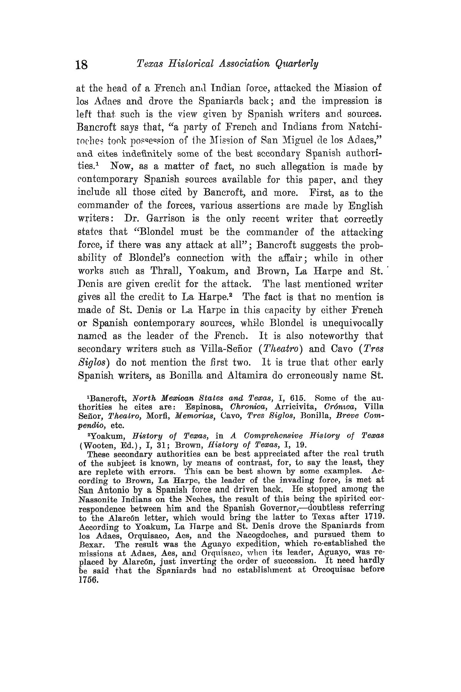 The Quarterly of the Texas State Historical Association, Volume 15, July 1911 - April, 1912                                                                                                      18