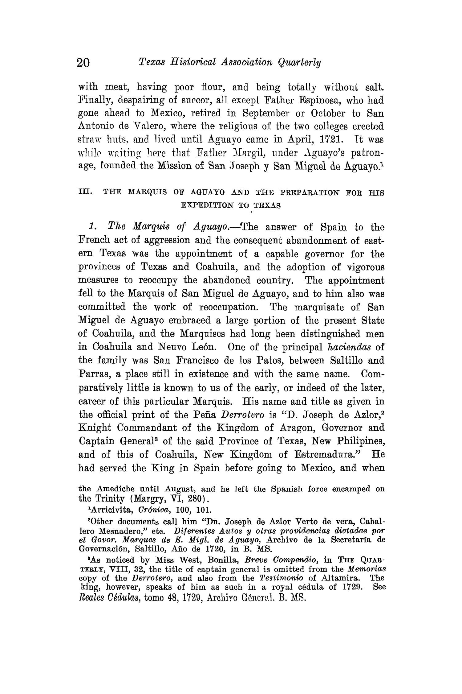 The Quarterly of the Texas State Historical Association, Volume 15, July 1911 - April, 1912                                                                                                      20
