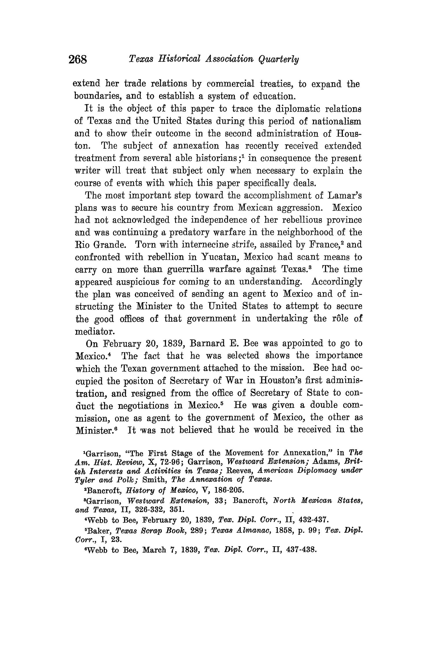 The Quarterly of the Texas State Historical Association, Volume 15, July 1911 - April, 1912                                                                                                      268