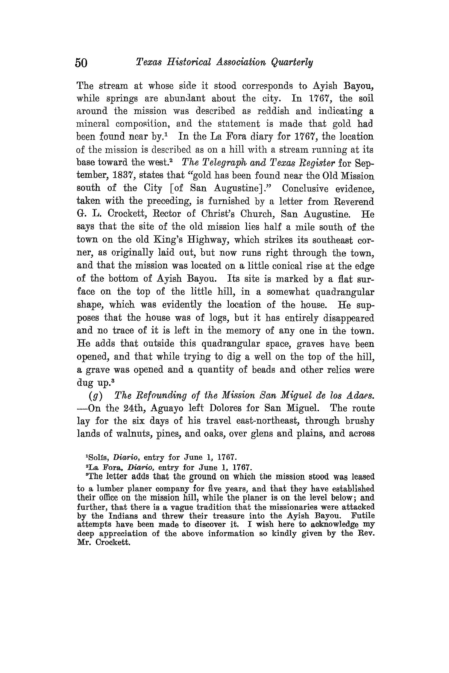 The Quarterly of the Texas State Historical Association, Volume 15, July 1911 - April, 1912                                                                                                      50