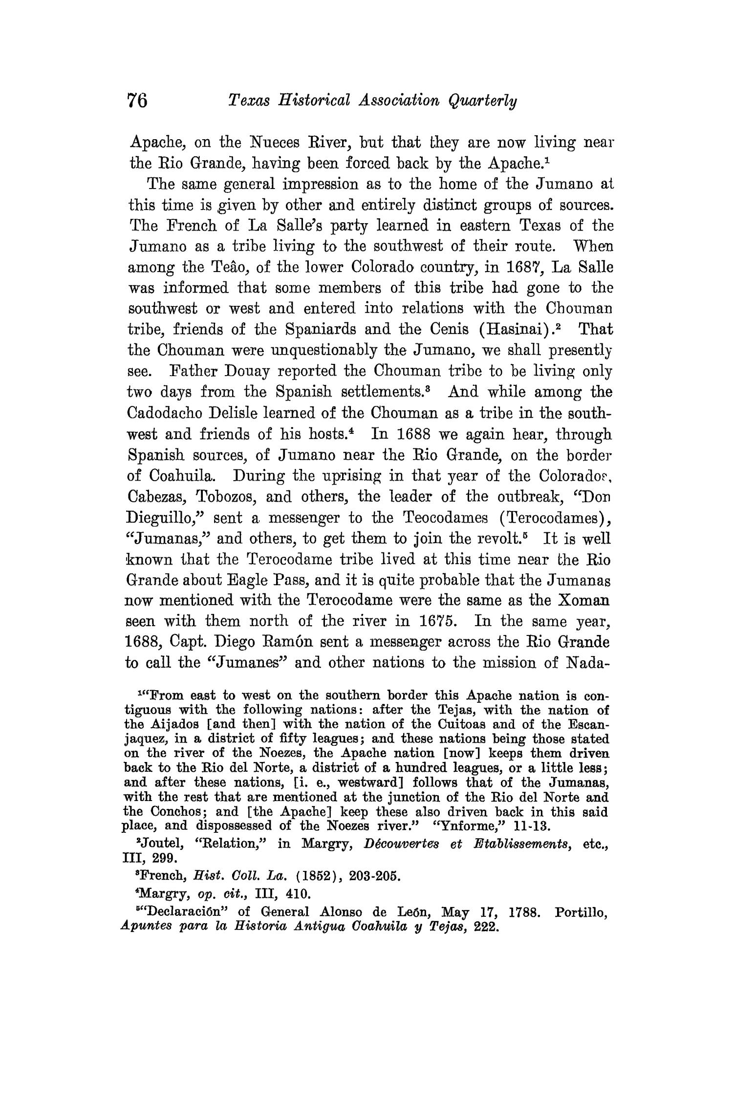 The Quarterly of the Texas State Historical Association, Volume 15, July 1911 - April, 1912                                                                                                      76