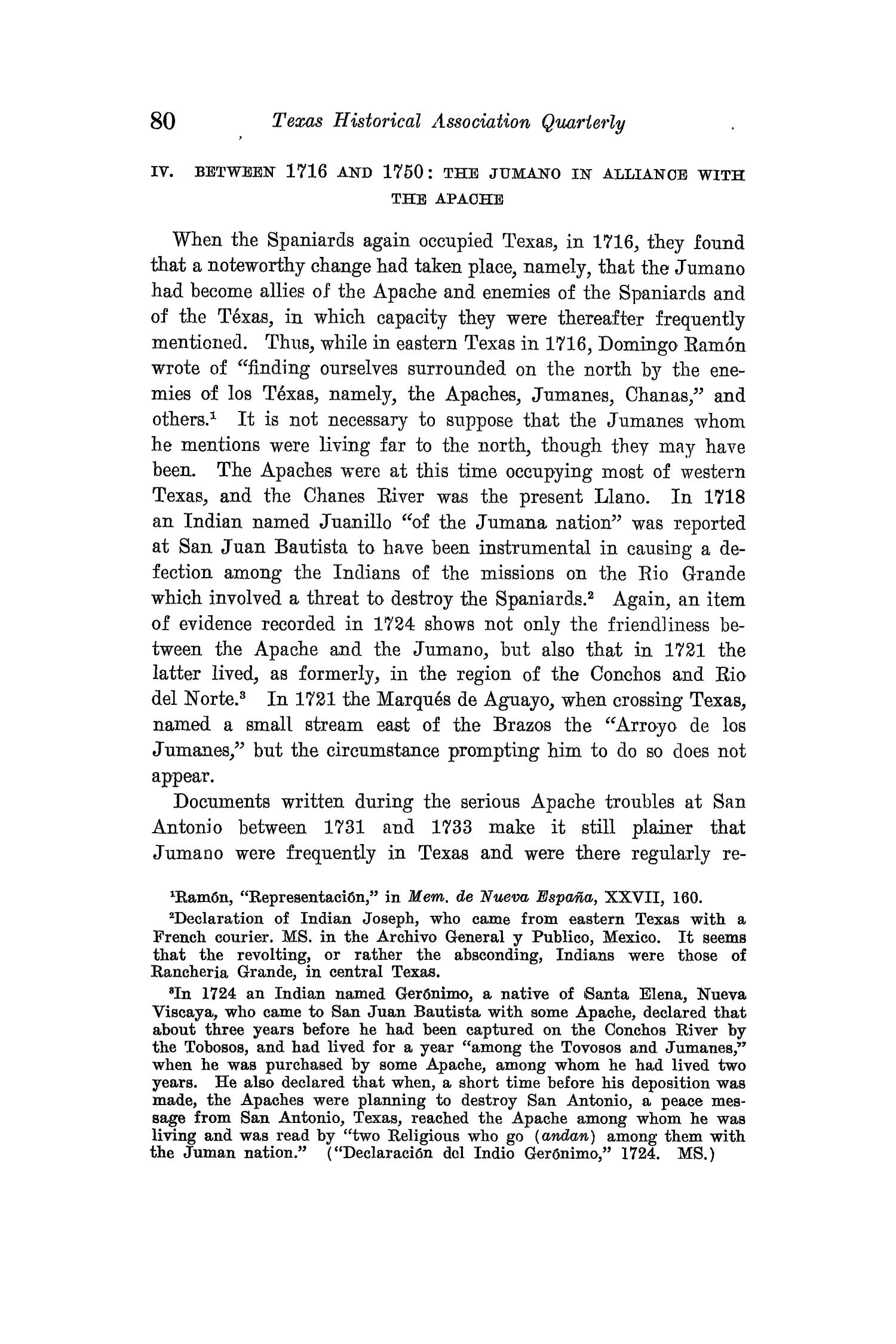 The Quarterly of the Texas State Historical Association, Volume 15, July 1911 - April, 1912                                                                                                      80