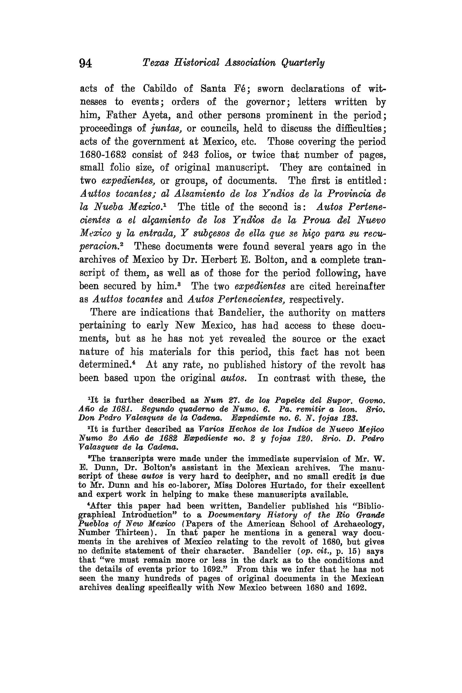 The Quarterly of the Texas State Historical Association, Volume 15, July 1911 - April, 1912                                                                                                      94