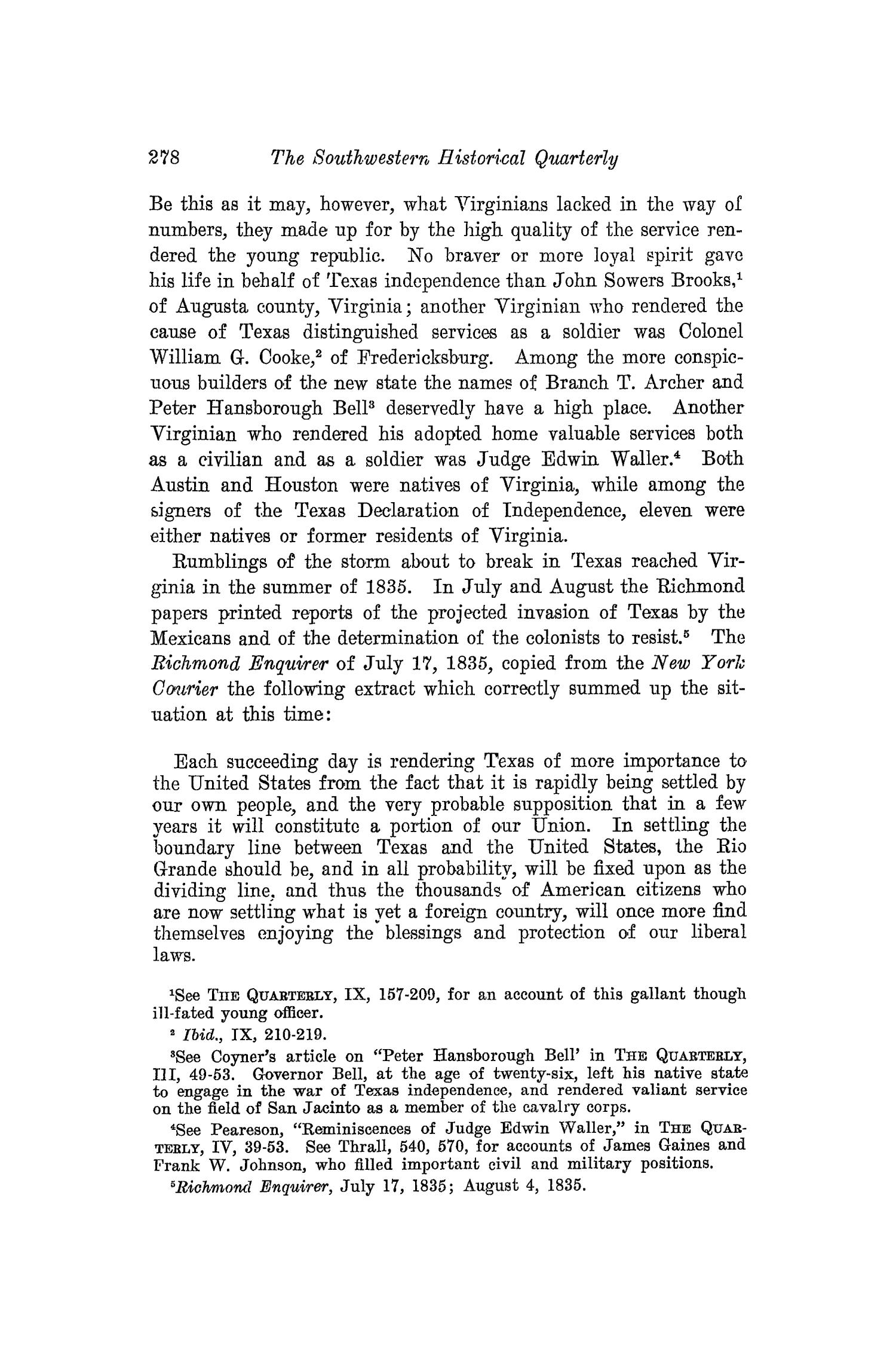 The Southwestern Historical Quarterly, Volume 16, July 1912 - April, 1913                                                                                                      278