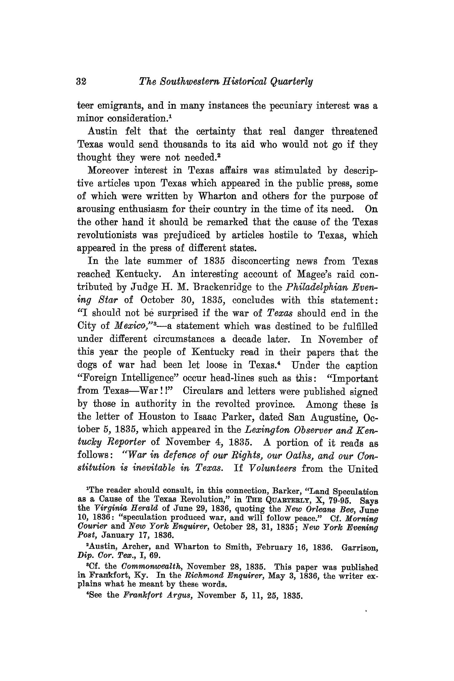 The Southwestern Historical Quarterly, Volume 16, July 1912 - April, 1913                                                                                                      32