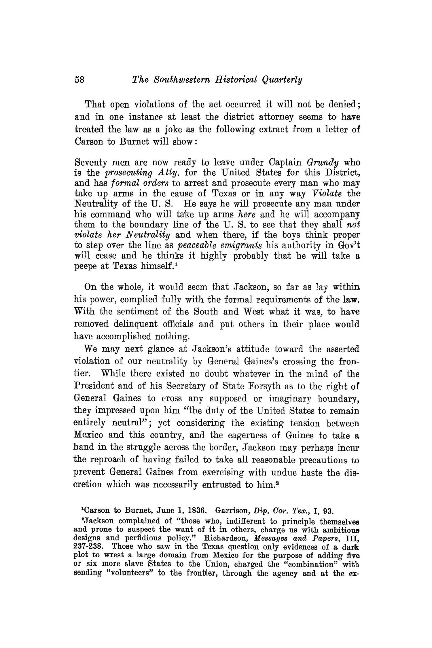 The Southwestern Historical Quarterly, Volume 16, July 1912 - April, 1913                                                                                                      58