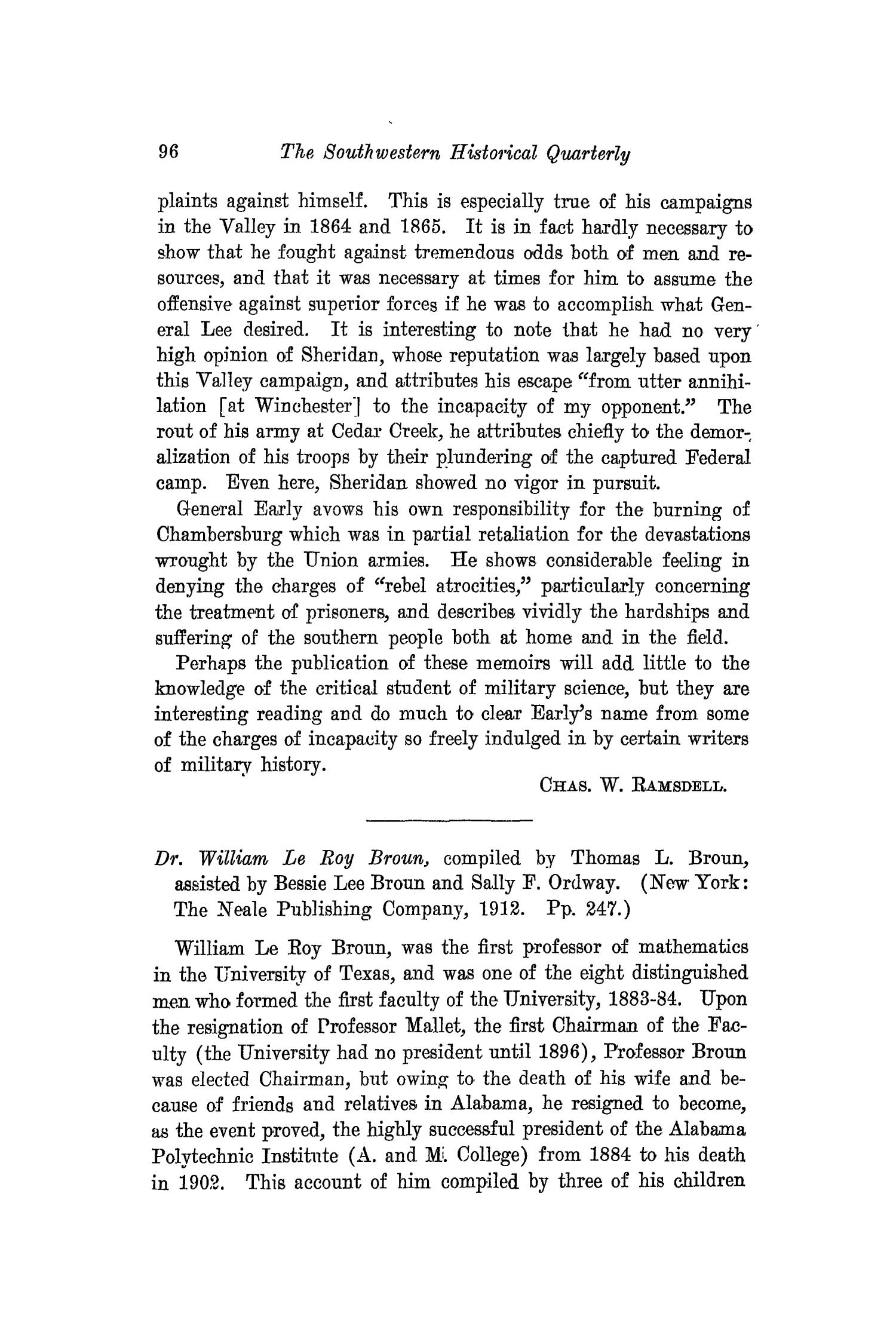 The Southwestern Historical Quarterly, Volume 17, July 1913 - April, 1914                                                                                                      96