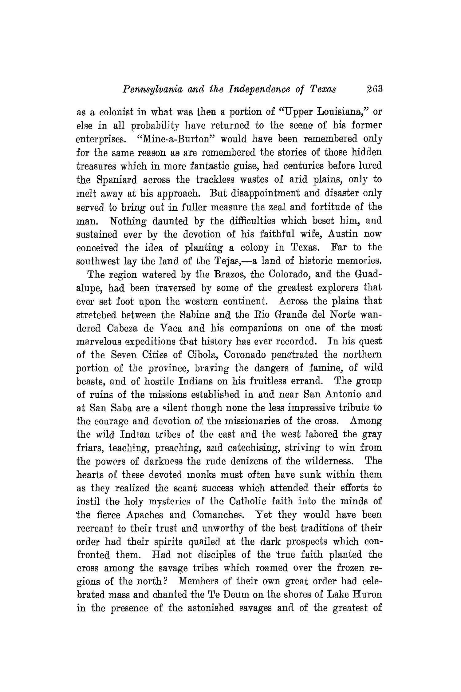 The Southwestern Historical Quarterly, Volume 17, July 1913 - April, 1914                                                                                                      263