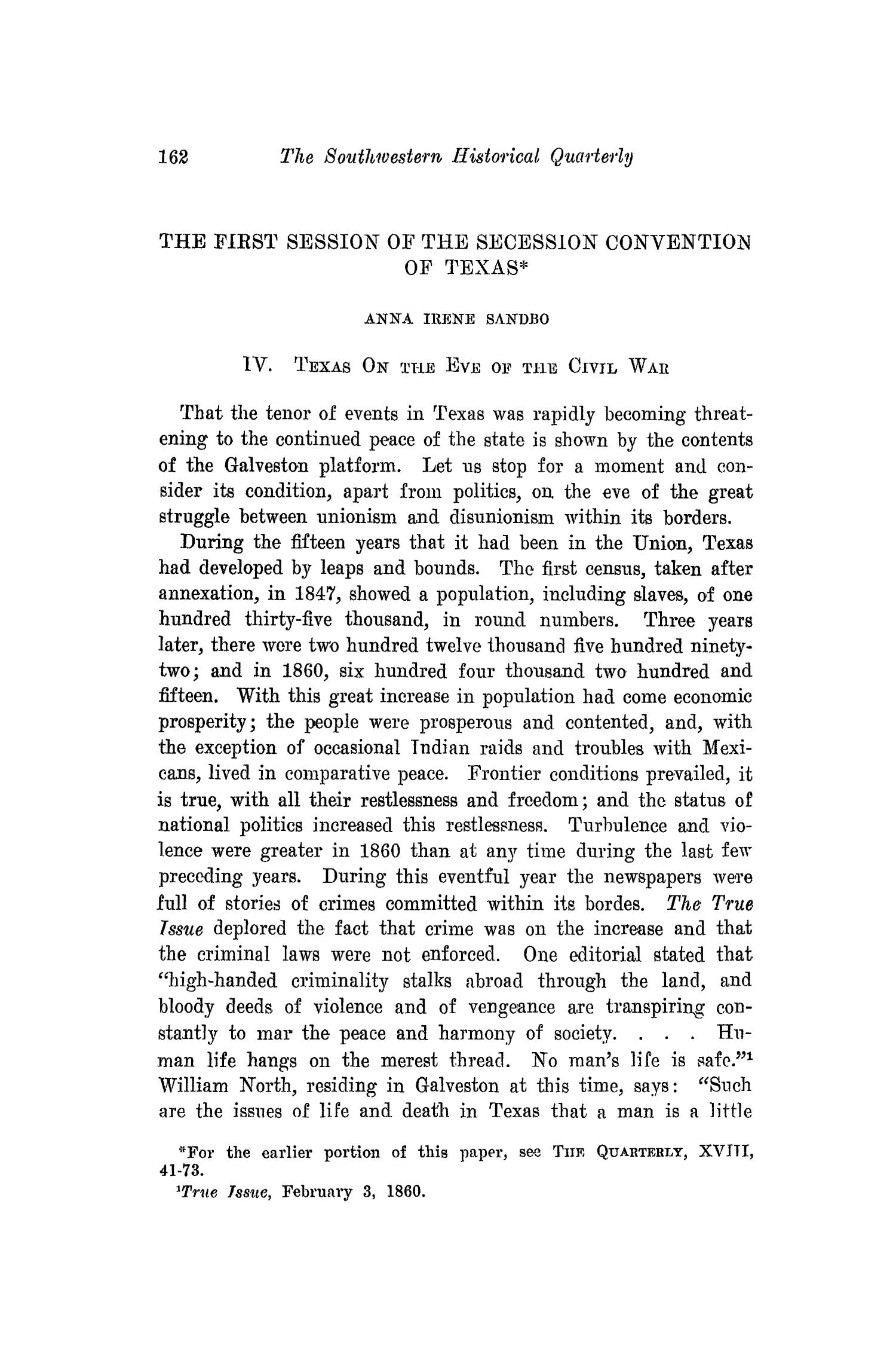 The Southwestern Historical Quarterly, Volume 18, July 1914 - April, 1915                                                                                                      162