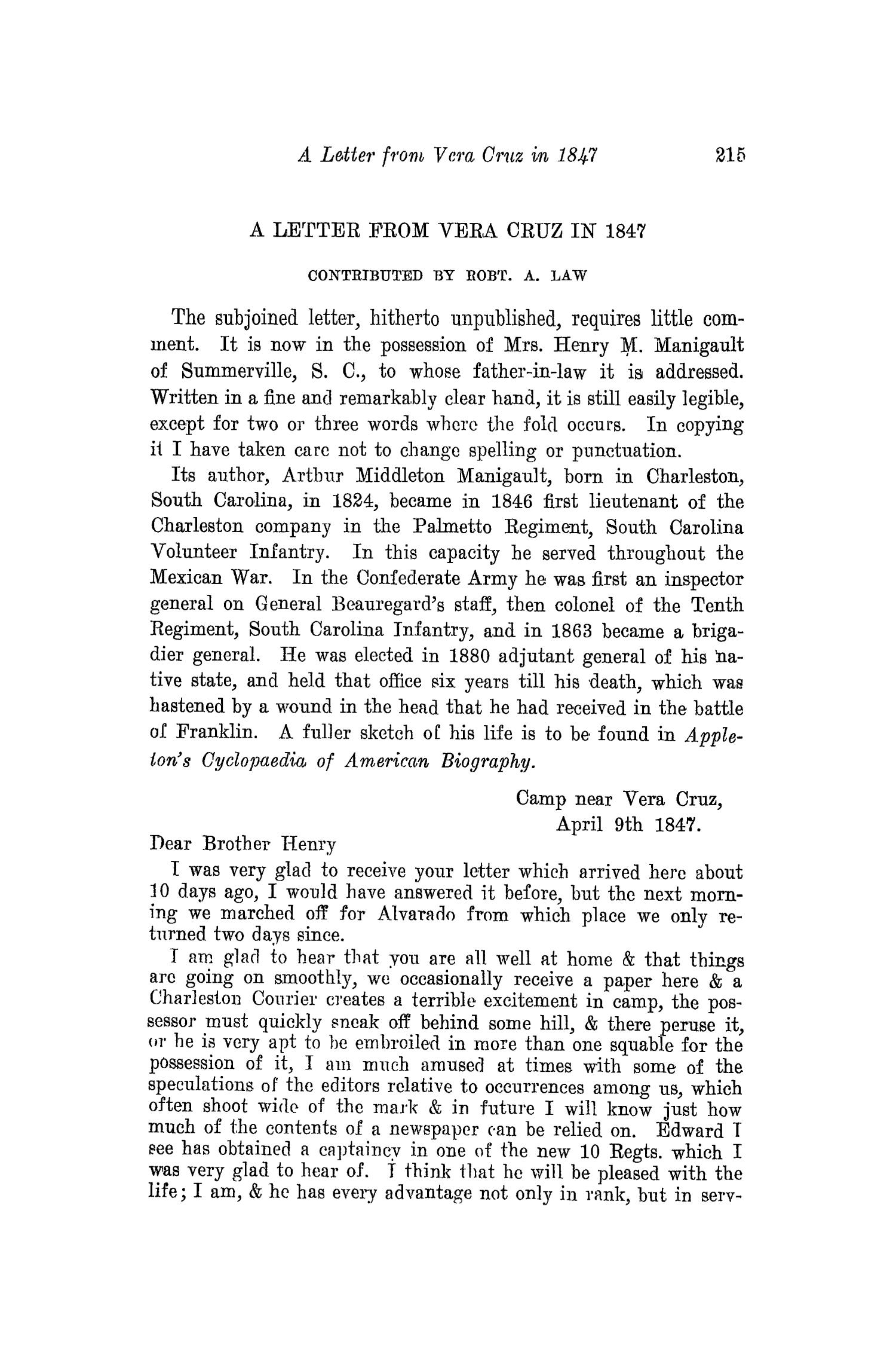 The Southwestern Historical Quarterly, Volume 18, July 1914 - April, 1915                                                                                                      215