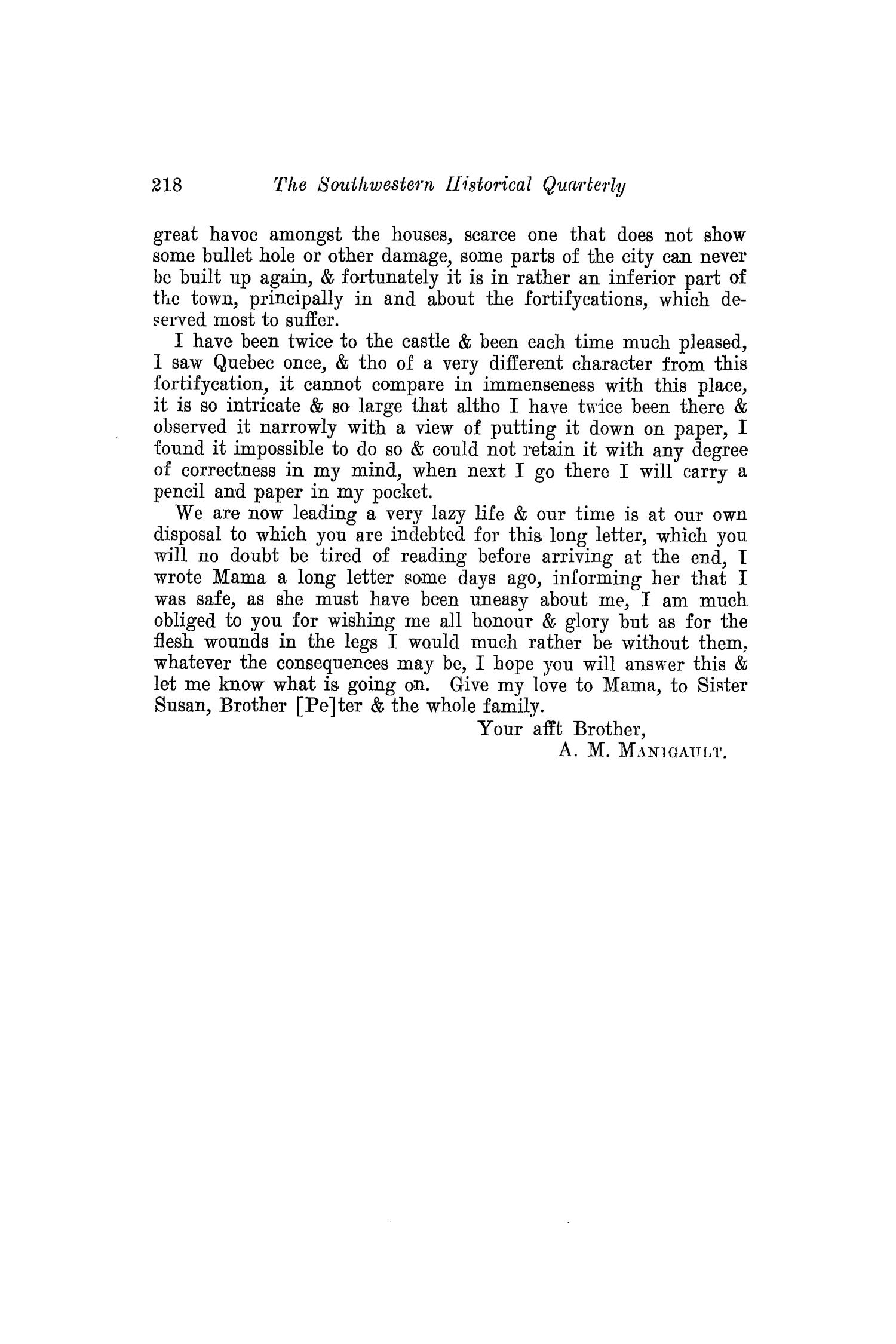 The Southwestern Historical Quarterly, Volume 18, July 1914 - April, 1915                                                                                                      218