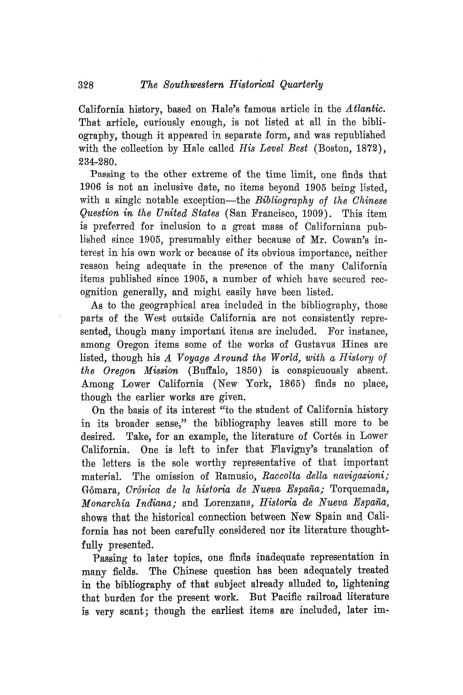 The Southwestern Historical Quarterly, Volume 18, July 1914 - April, 1915                                                                                                      328