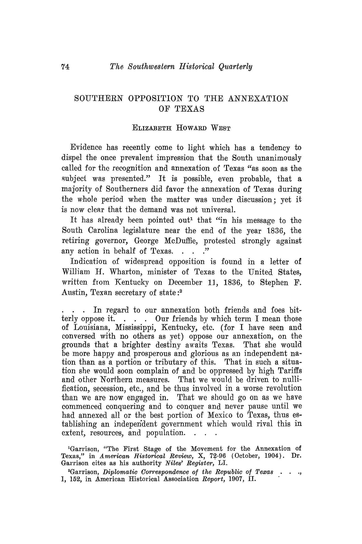 The Southwestern Historical Quarterly, Volume 18, July 1914 - April, 1915                                                                                                      74