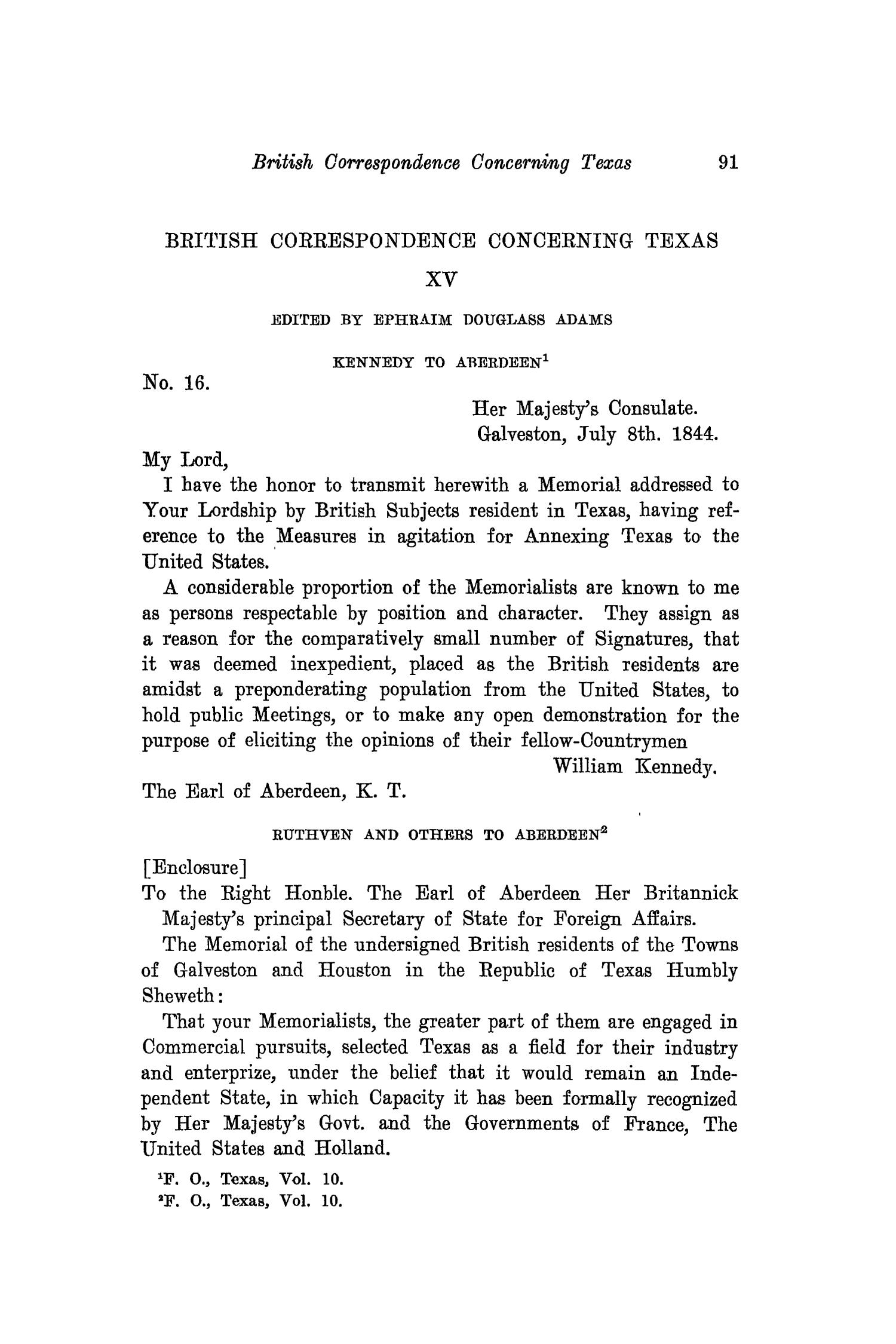 The Southwestern Historical Quarterly, Volume 19, July 1915 - April, 1916                                                                                                      91