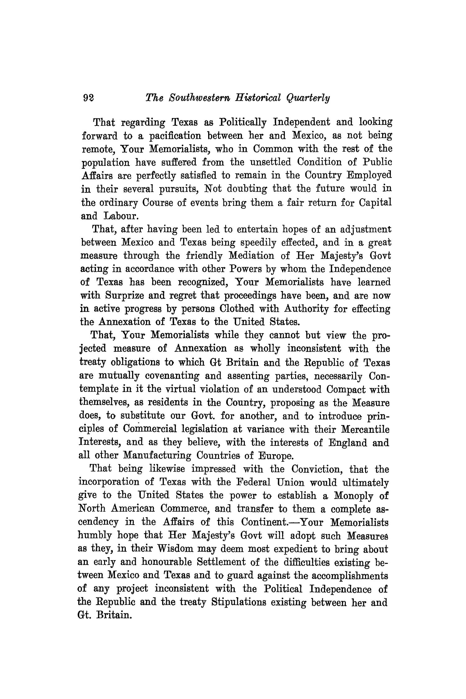 The Southwestern Historical Quarterly, Volume 19, July 1915 - April, 1916                                                                                                      92