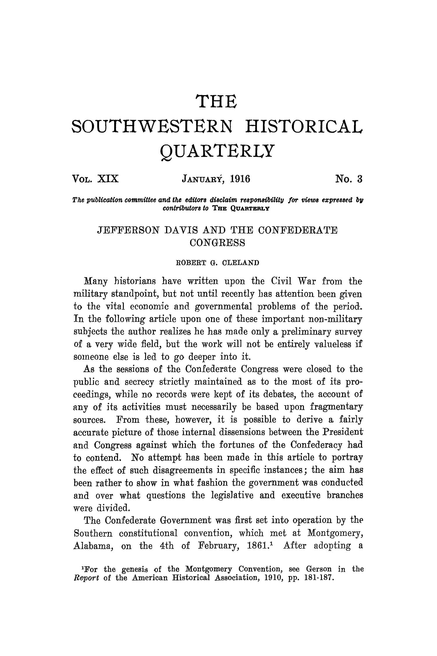 The Southwestern Historical Quarterly, Volume 19, July 1915 - April, 1916                                                                                                      213