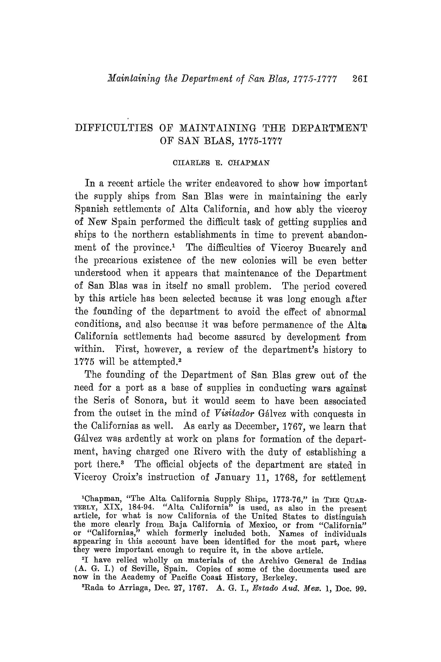 The Southwestern Historical Quarterly, Volume 19, July 1915 - April, 1916                                                                                                      261