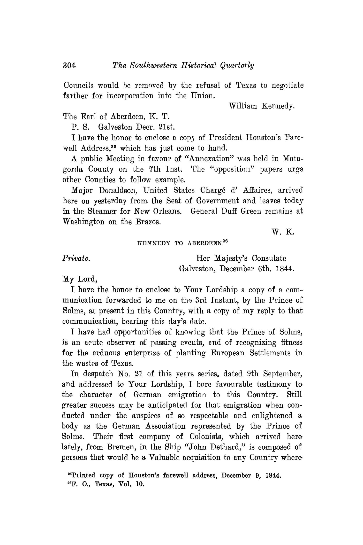 The Southwestern Historical Quarterly, Volume 19, July 1915 - April, 1916                                                                                                      304