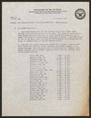 Primary view of object titled 'Air Reserve Element Training Newsletter, Ninth Edition, October 19, 1967'.