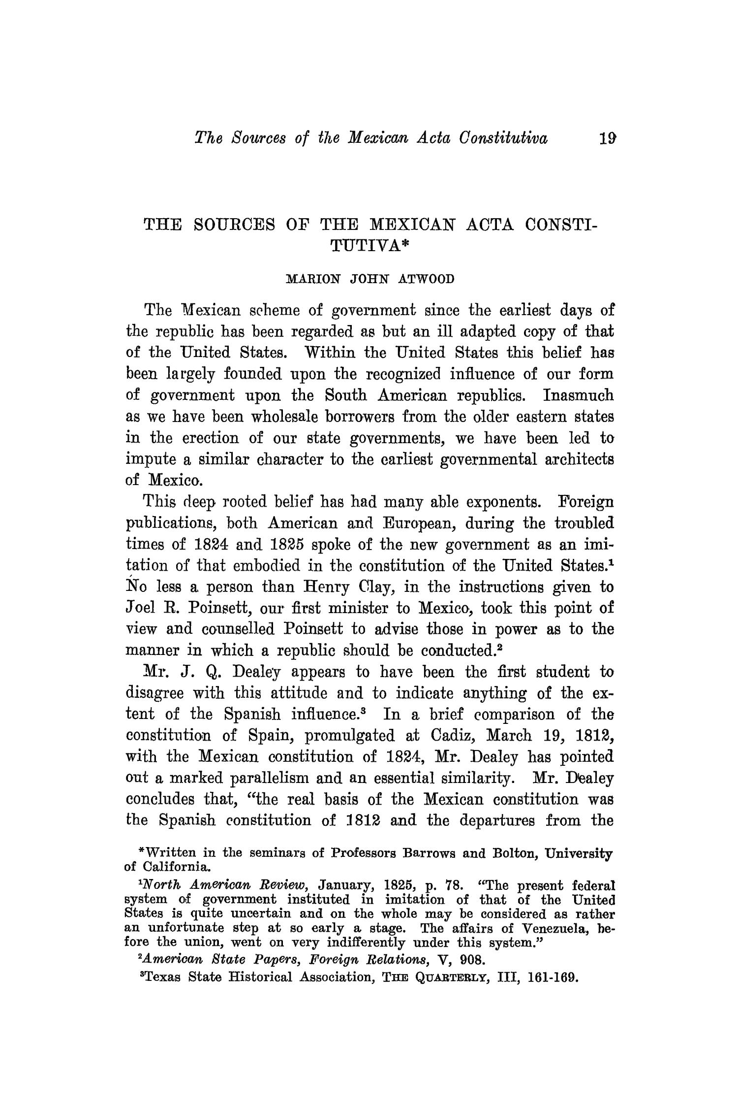 The Southwestern Historical Quarterly, Volume 20, July 1916 - April, 1917                                                                                                      19