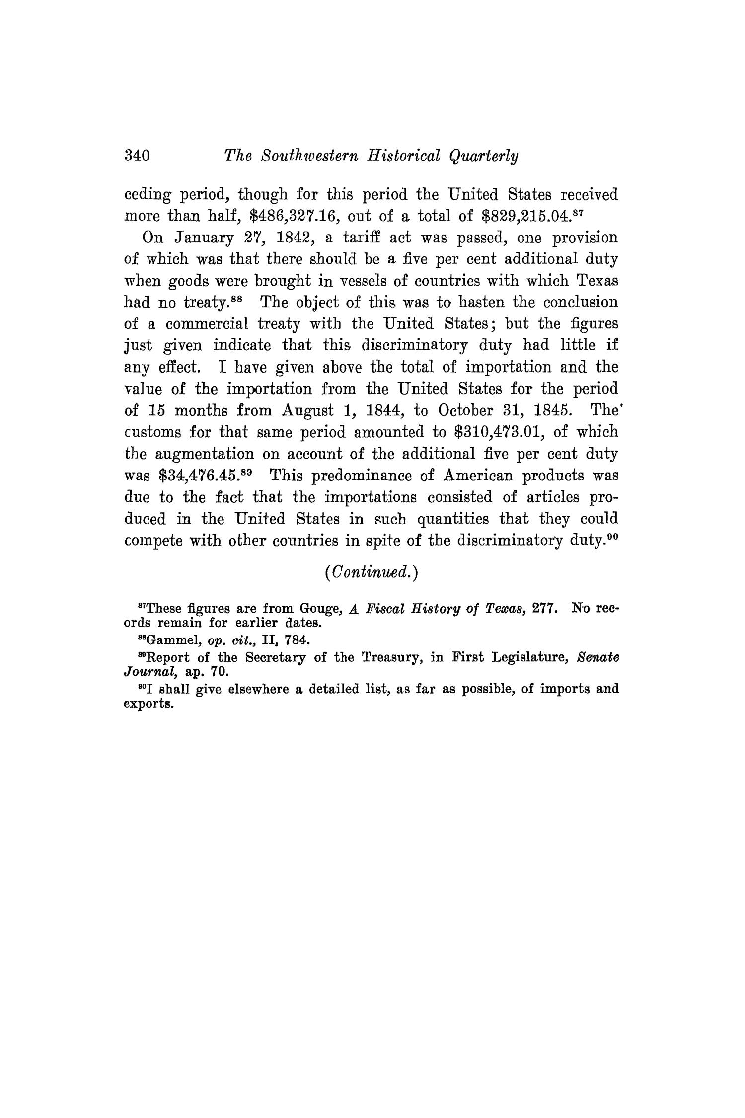 The Southwestern Historical Quarterly, Volume 20, July 1916 - April, 1917                                                                                                      340
