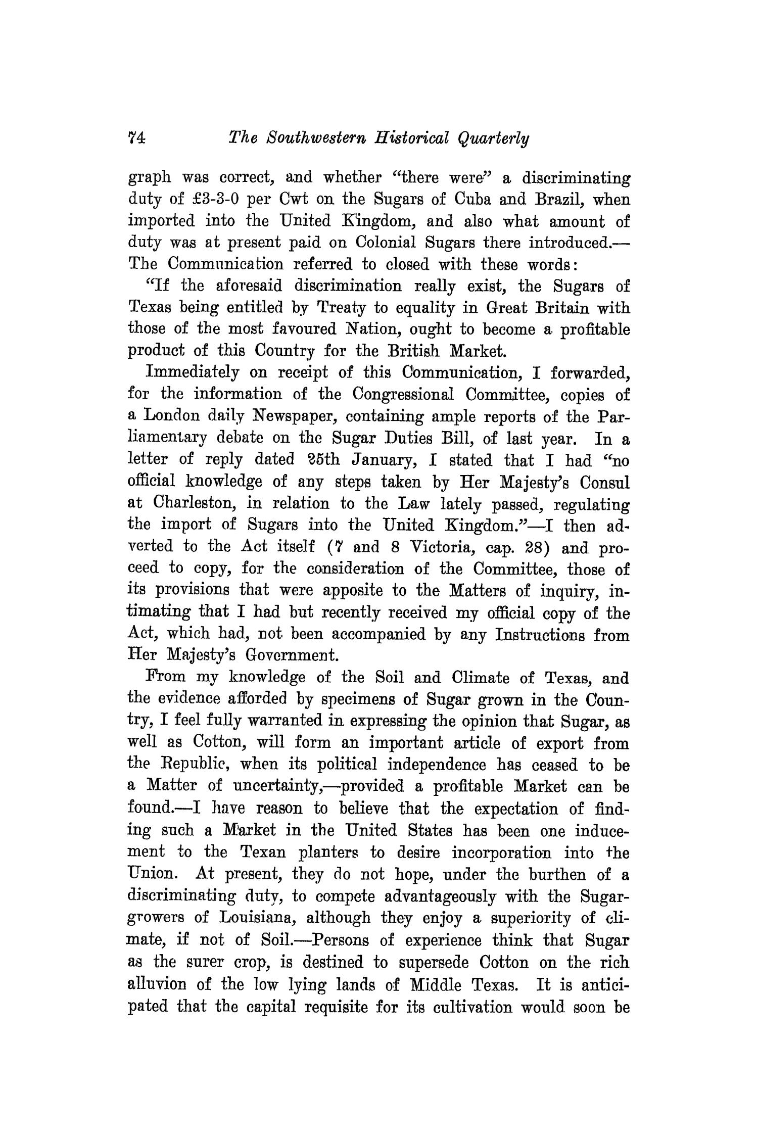 The Southwestern Historical Quarterly, Volume 20, July 1916 - April, 1917                                                                                                      74