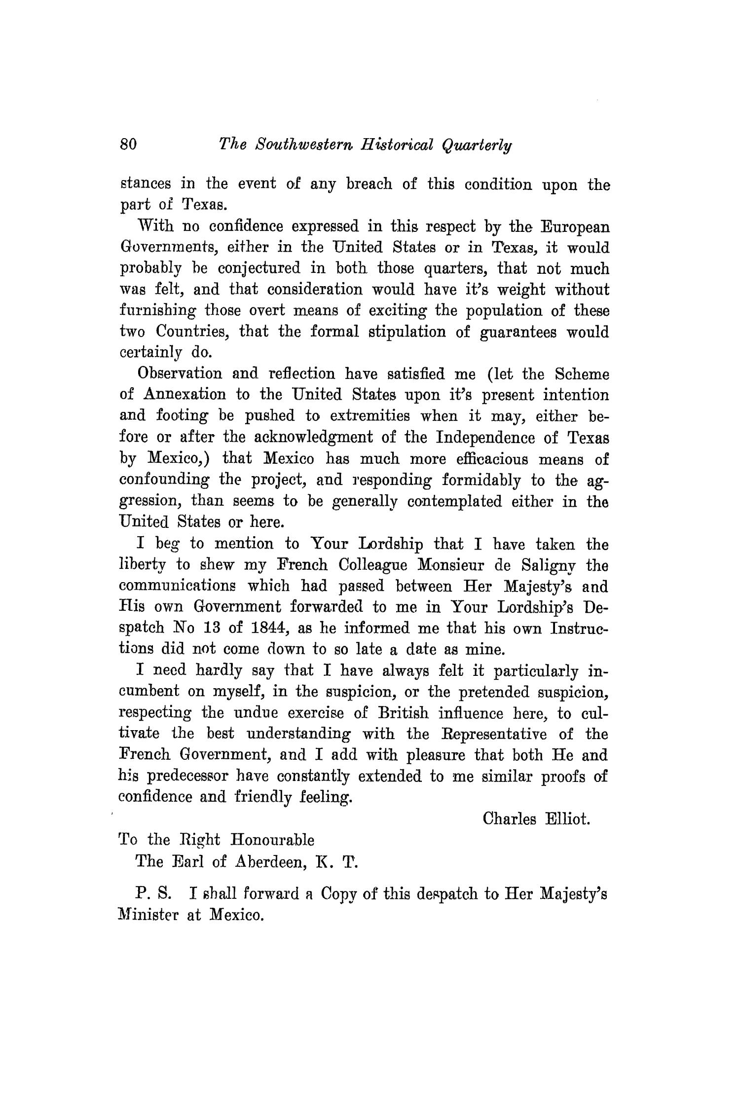 The Southwestern Historical Quarterly, Volume 20, July 1916 - April, 1917                                                                                                      80