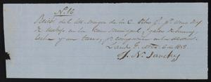 Primary view of object titled '[Receipt #16, 1858]'.