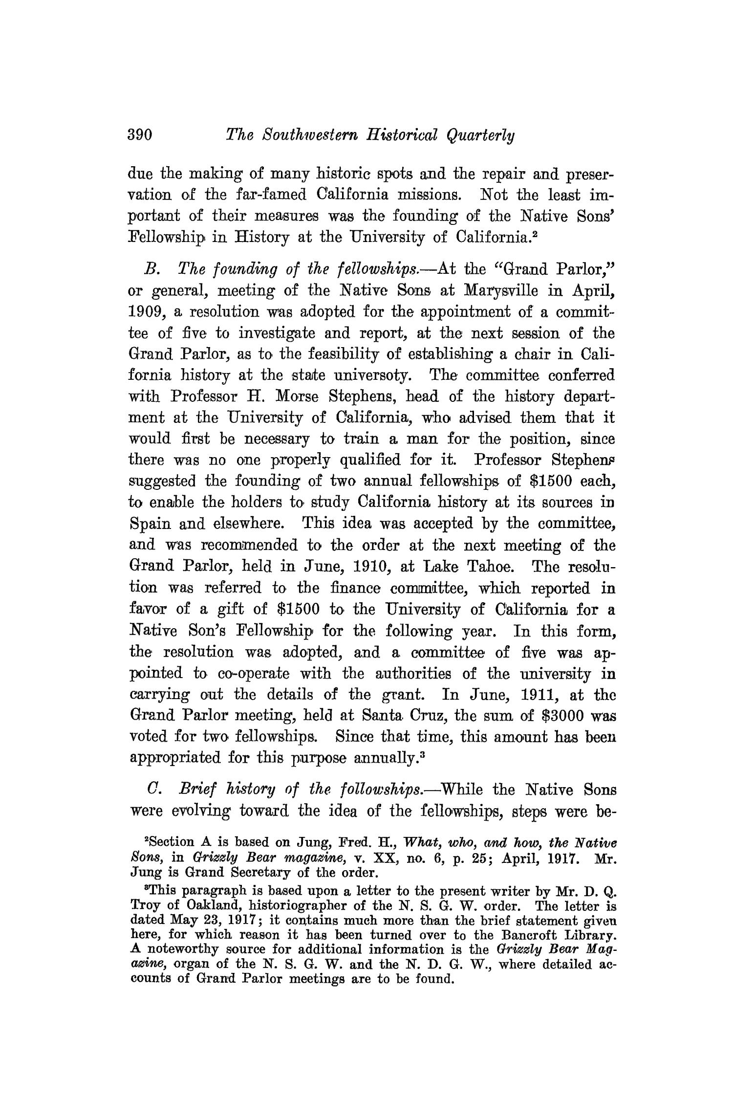 The Southwestern Historical Quarterly, Volume 21, July 1917 - April, 1918                                                                                                      390