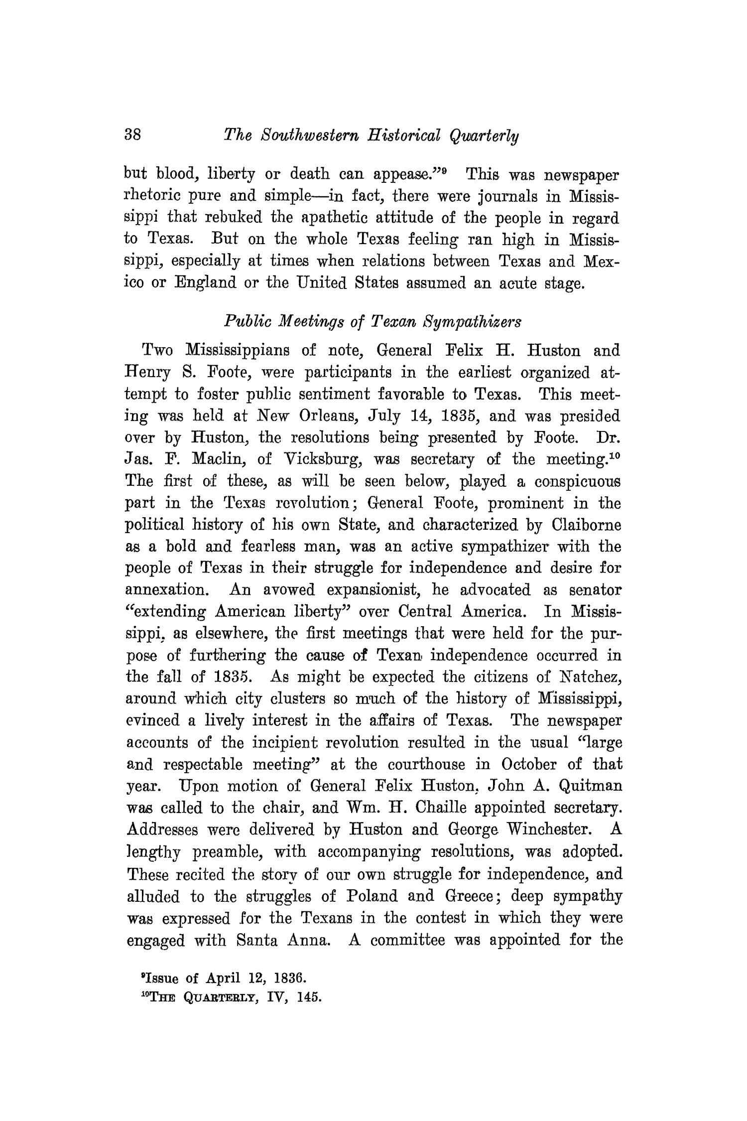 The Southwestern Historical Quarterly, Volume 21, July 1917 - April, 1918                                                                                                      38
