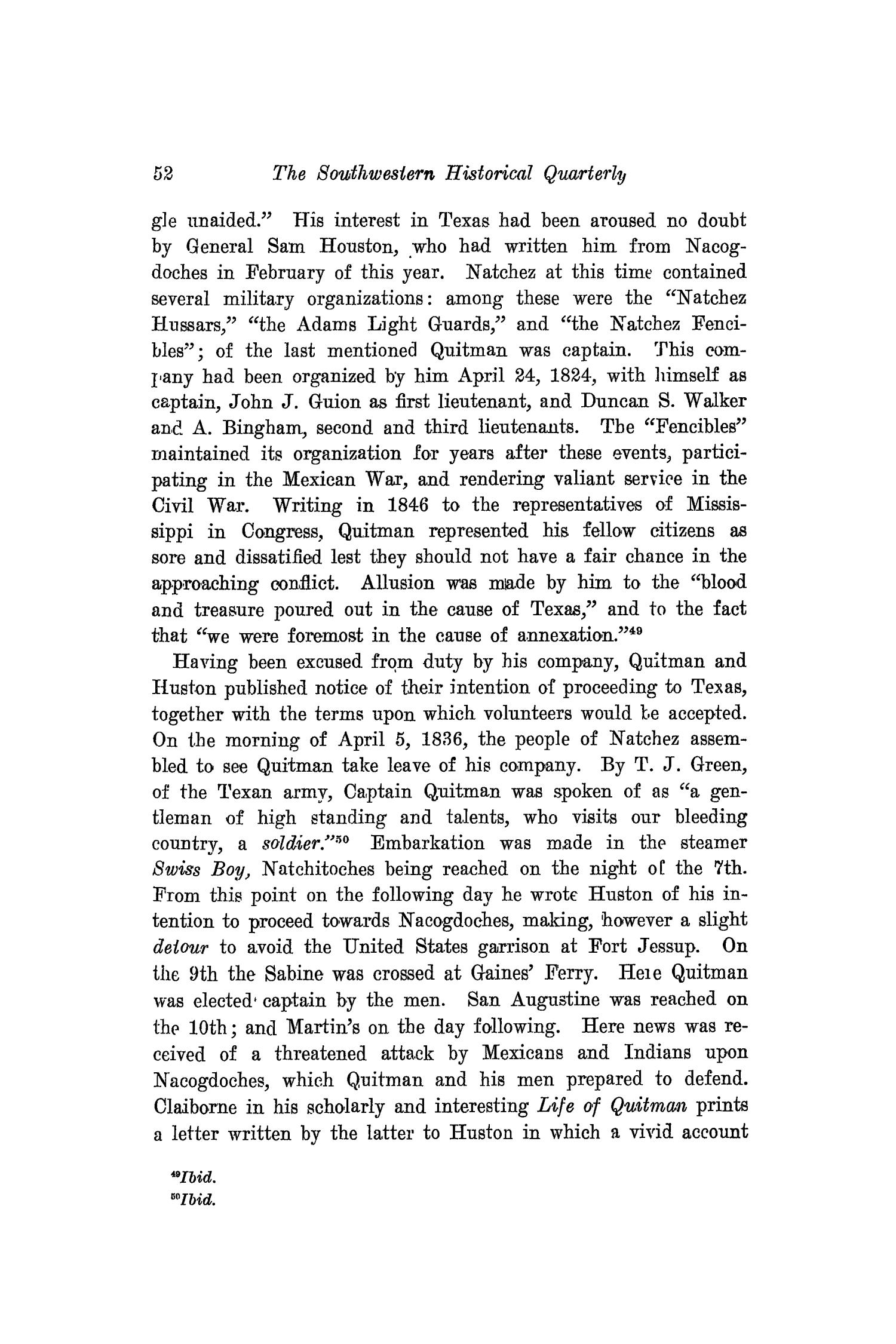The Southwestern Historical Quarterly, Volume 21, July 1917 - April, 1918                                                                                                      52