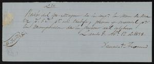 Primary view of [Receipt #26, 1858]