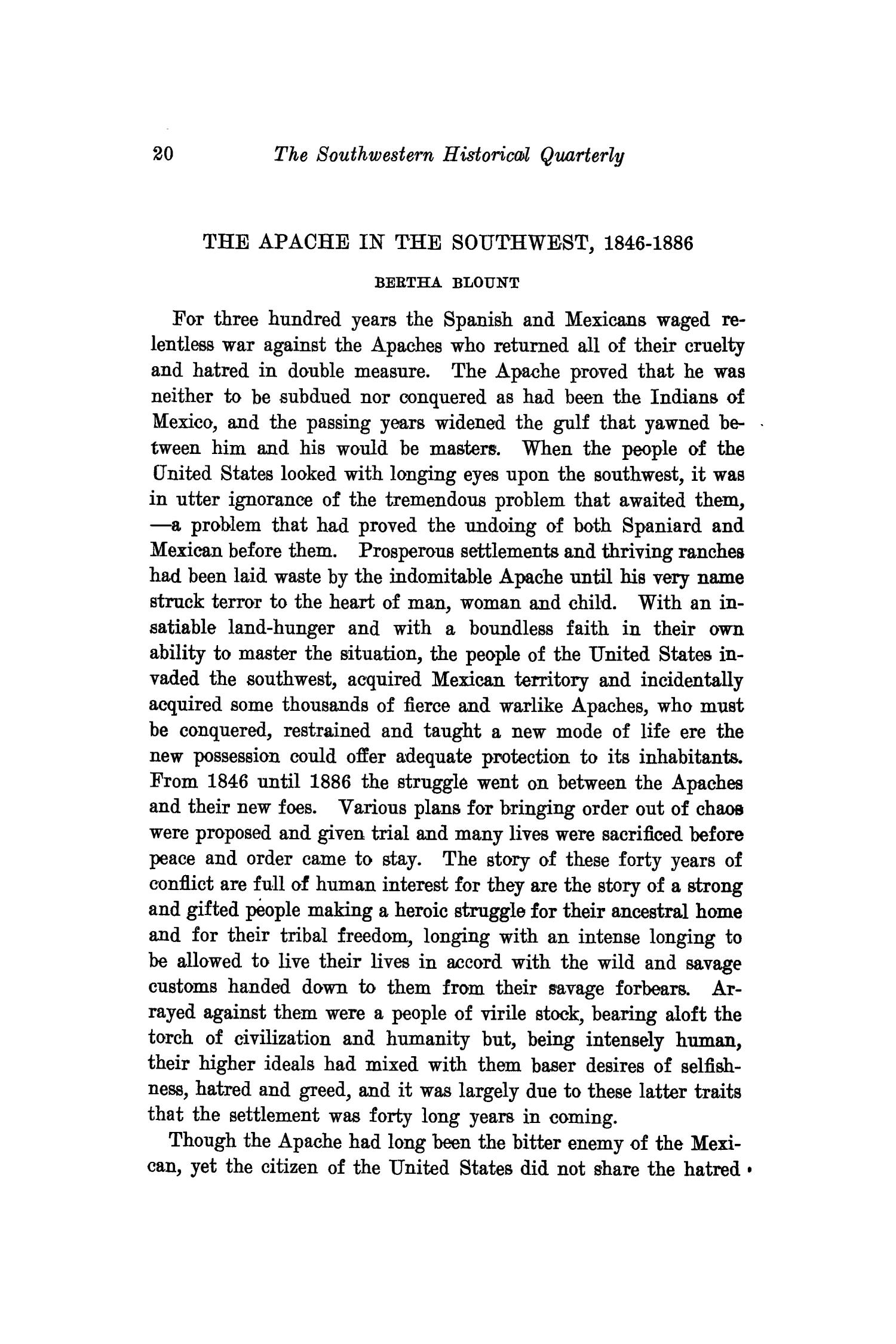The Southwestern Historical Quarterly, Volume 23, July 1919 - April, 1920                                                                                                      20