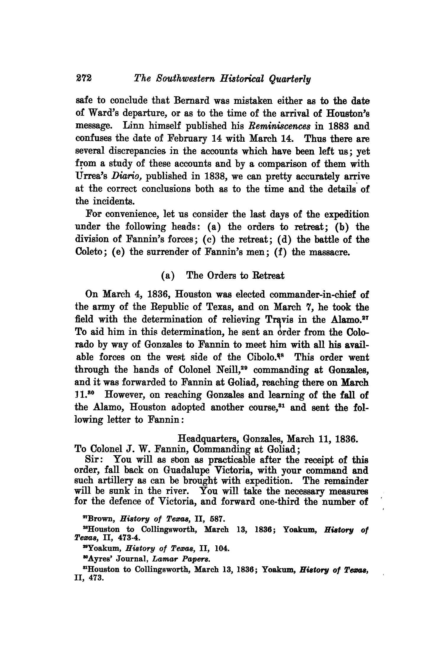 The Southwestern Historical Quarterly, Volume 23, July 1919 - April, 1920                                                                                                      272