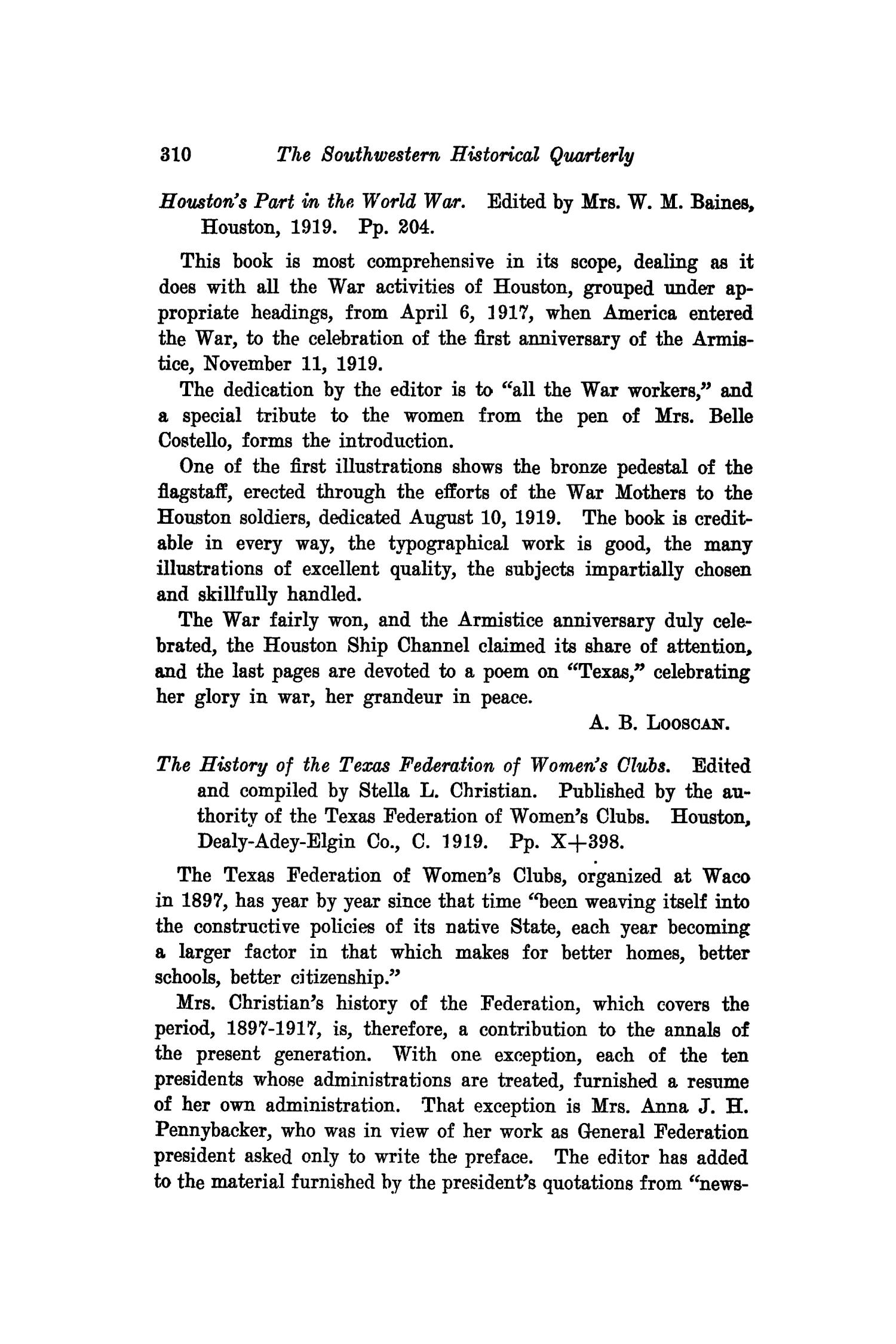 The Southwestern Historical Quarterly, Volume 23, July 1919 - April, 1920                                                                                                      310