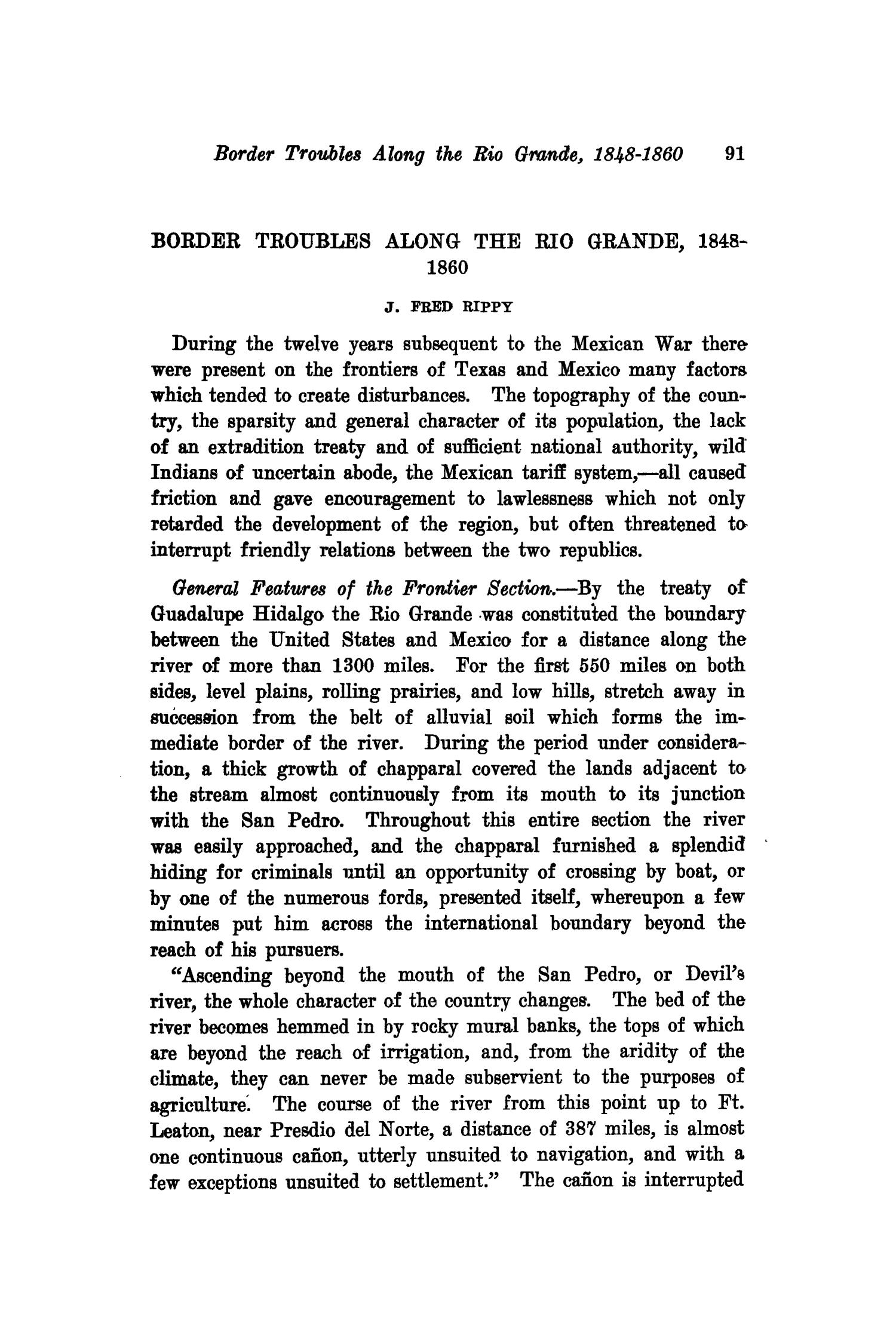 The Southwestern Historical Quarterly, Volume 23, July 1919 - April, 1920                                                                                                      91