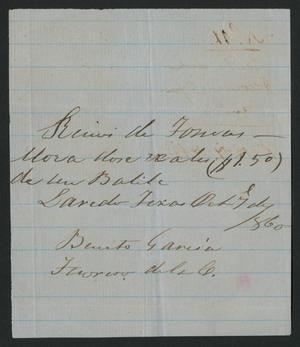 [Receipt #11, 1860]