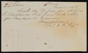 Primary view of object titled '[Receipt #10, 1858]'.