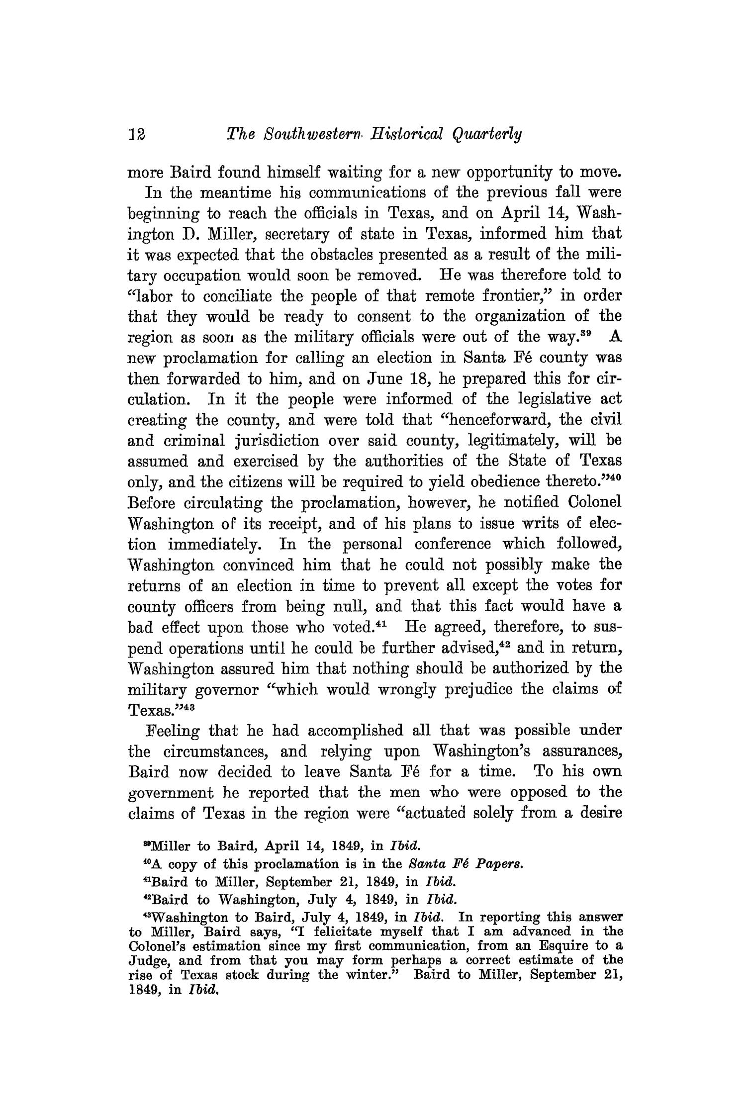 The Southwestern Historical Quarterly, Volume 24, July 1920 - April, 1921                                                                                                      12