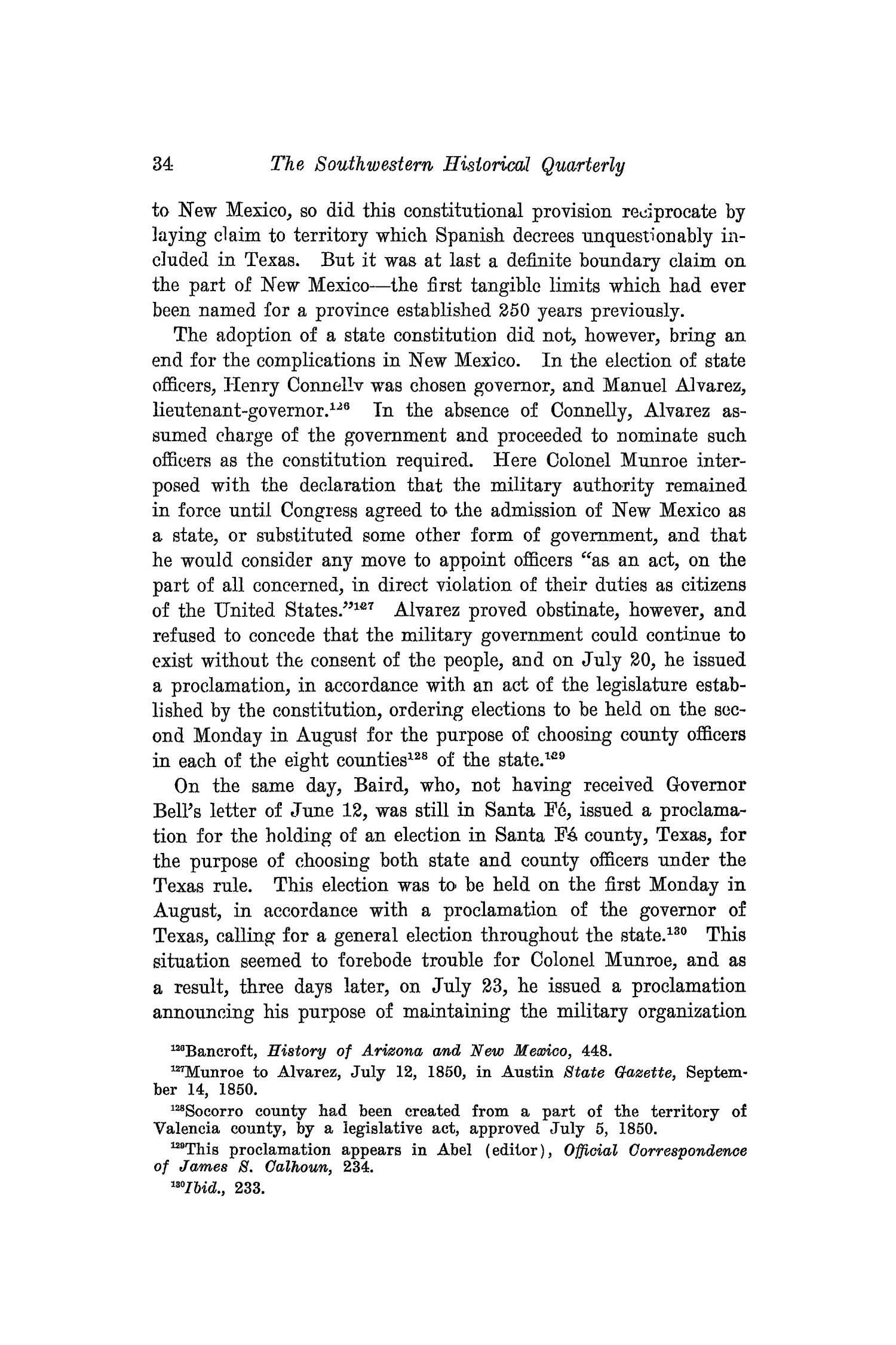 The Southwestern Historical Quarterly, Volume 24, July 1920 - April, 1921                                                                                                      34