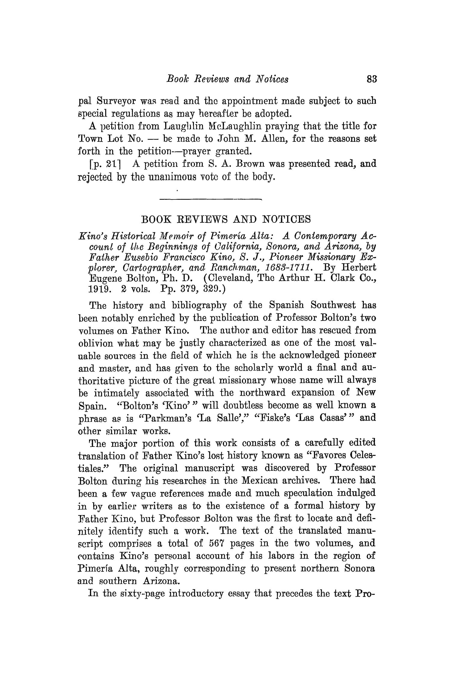 The Southwestern Historical Quarterly, Volume 24, July 1920 - April, 1921                                                                                                      83