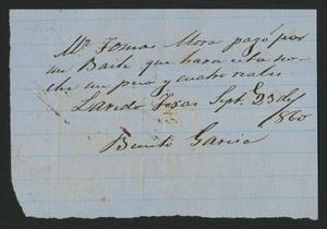 [Receipt #7, 1860]