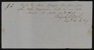 Primary view of [Receipt #7, 1858]