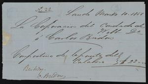 [Receipt #22, 1858]